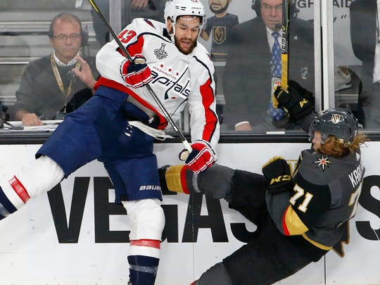 Game 5: Washington Capitals right wing Tom Wilson knocks