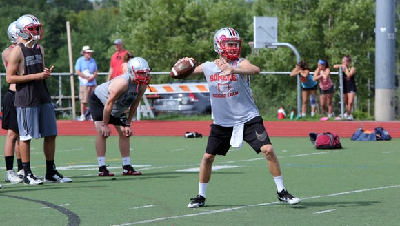 Quarterback Kevin Olifiers on the first official day