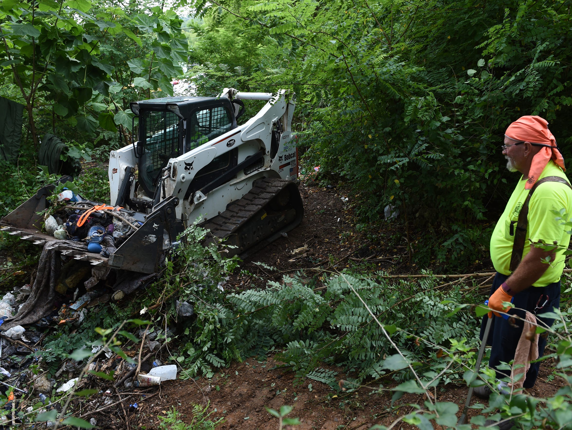 City Of Knoxville Public Works Crews Clears A Camp
