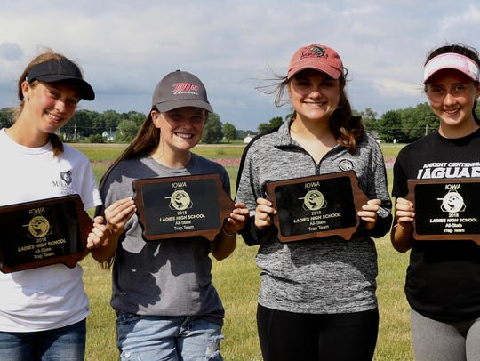 Ankeny Centennial all-state trap shooters, from left: