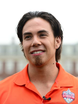 Apolo Anton Ohno in July 2012 at the U.S. ambassador's residence in London.