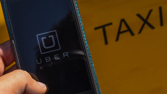 The Uber app launched Friday in Ocean City.