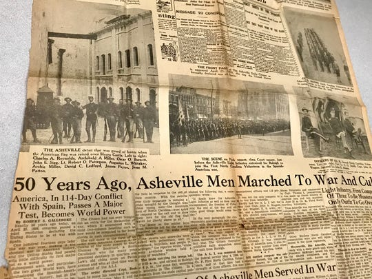 The Citizen Times published a special section in 1948 to commemorate the 50th anniversary of the Spanish-American War of 1898. More than 300 men from the Asheville area volunteered for service.