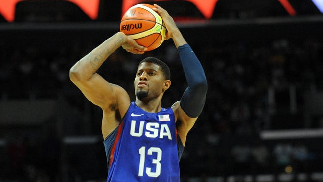Pacers star Paul George is back in a Team USA jersey after his horrific injury two years ago.
