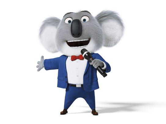 Matthew McConaughey voices the koala Buster Moon in