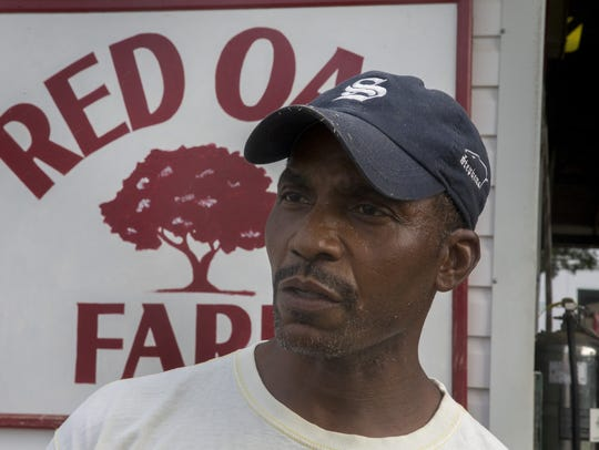 Raymond Farrow of Long Branch has worked on a feed