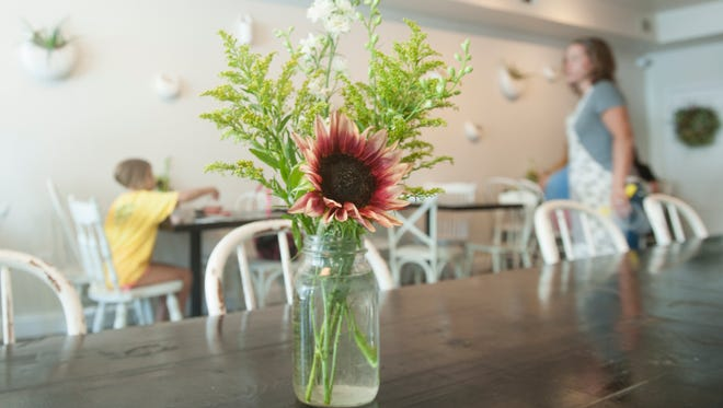 Interior of Heart Beet Kitchen in Westmont is a bright and welcoming place.
