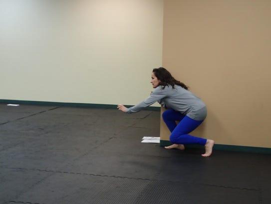 Darci Miranti of Big Sky Taekwondo demonstrates how
