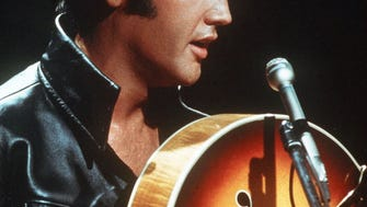 Elvis Presley in this undated file photo.
