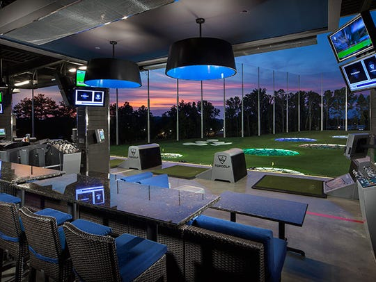 A look inside a Topgolf complex. A similar venue is