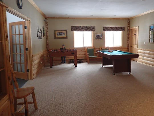 The games, such as the pool table, offer additional enjoyment.