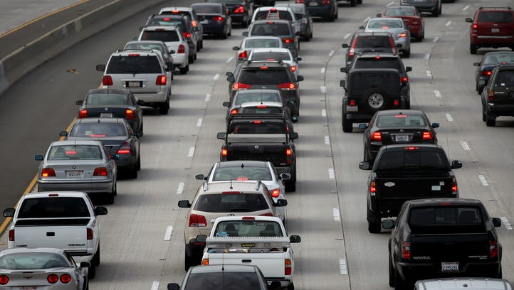 Morning traffic fills the SR2 freeway on April 25, 2013 in Los Angeles, California. The nation's second largest city, Los Angeles, has again been ranked the worst in the nation for ozone pollution.