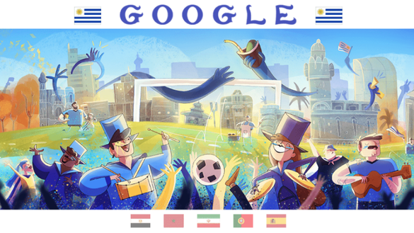 See the new Google doodle celebrating the 2018 FIFA World Cup