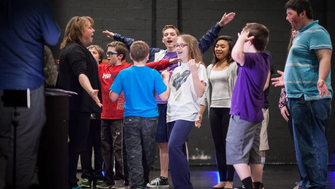 Children with autism are immersed into the theater arts during a Miracle Project program at the Mayo Performing Arts Center in Morristown.