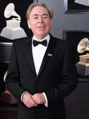 Andrew Lloyd Webber arrives for the 60th Grammy Awards