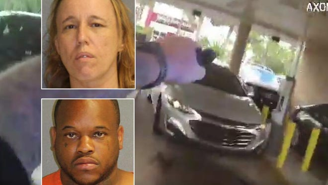 Peggy M. Larsen and Courtney Walker attempted to cash a fraudulent check at a Deltona Wells Fargo but were arrested by deputies already on the scene, according to the Volusia County Sheriff's Office.