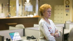 Maricopa County Recorder Helen Purcell watches election