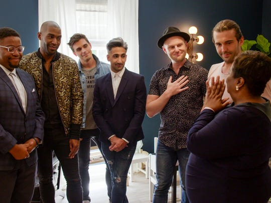 "Karamo Brown, Antoni Porowski, Tan France, Bobby Berk and Jonathan Van Ness on ""Queer Eye."""