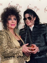 Elizabeth Taylor with her close pal, Michael Jackson,