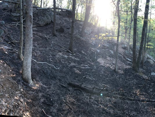 North Castle brush fire
