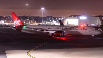 Virgin Atlantic's inaugural revenue flight on the Boeing 787-9 Dreamliner is seen at Boston Logan International Airport on Oct. 28, 2014.