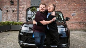 """Carpool Karaoke"" chaps James Corden and Paul McCartney."