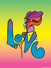 """Love"" by Peter Max."