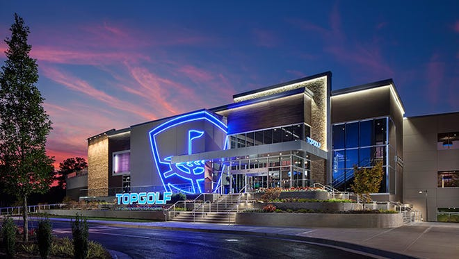 A picture of the Topgolf entertainment complex in Atlanta. A facility like this is planned for Mount Laurel.