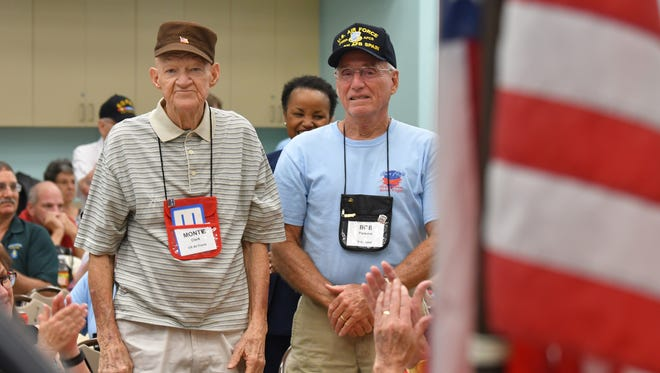 Space Coast Honor Flight held a June 2018 orientation for the organization's 50th free trip to Washington, D.C. The trips, for veterans of World War II and the Korean and Vietnam wars, offer a day for the vets to be honored and to visit war memorials.
