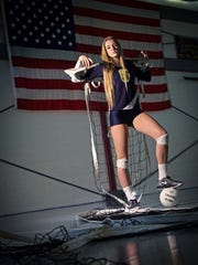 17 year-old Victoria Taylor is a senior volley ball player for the Delaware Military Academy.
