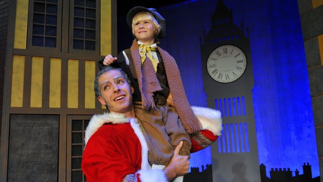 """Scrooge! The Musical"" will be performed at the Titusville Playhouse weekends of Nov. 27-Dec. 20, with a cast of over 30 actors, including Alexander Nathan as Ebenezer Scrooge and Gabriel Charvet as Tiny Tim."