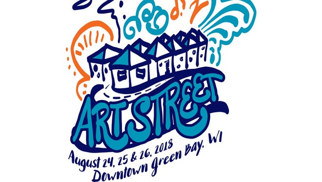 The 2018 Artstreet logo was designed by Kimberly Vlies of Green Bay.