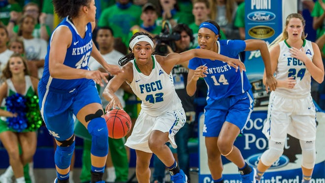 Ty Adderly and her FGCU teammates -- who have top-20 wins against DePaul and Kentucky -- will be looking to rebound from Sunday's loss at UT Chattanooga during their Hilton Garden Inn Classic.