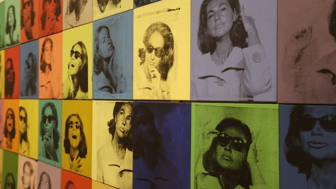 """Andy Warhol's """"Ethel Scull 36 Times"""" is displayed as part of the exhibition """"Andy Warhol – From A to B and Back Again"""" at the San Francisco Museum of Modern Art. The selected works capture the artist's knack for giving his subjects personas, much the way people do now using social media."""
