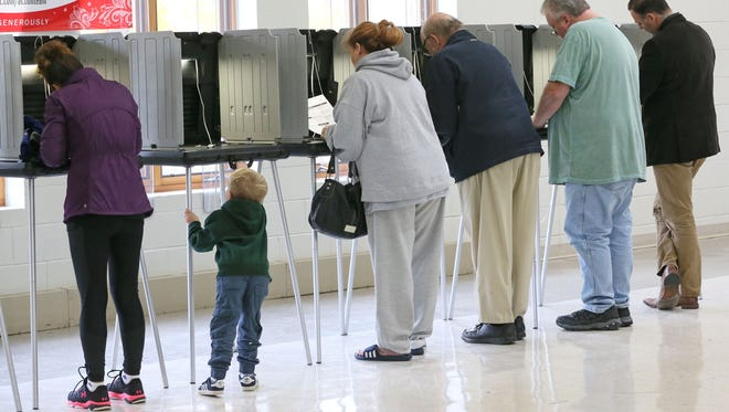 Voters cast their ballots in the November 2016 election at Christ The King Lutheran Church in Delafield.