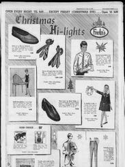 "Fowler's ""Christmas Hi-lights"" advertisement on Dec."