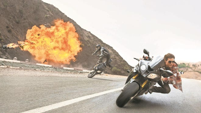 """Tom Cruise appears in a scene from """"Mission: Impossible – Rogue Nation."""""""