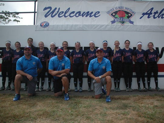 The Canal players pictured from left to right: Kylie Saienni, Hailee Trala, Mikayla Walsh, Kylie Parker, Madison Parisi, Hannah Navarro, Hannah Chambers, Sara Ann Sobocinski, Olivia Marinucci, Olivia Stubblebine, Rylee Maloney, Brooklyn Richardson, Ashlee Trala. Coaches from left to right are Kevin Maloney, Rich Trala and Trinidad Navarro.