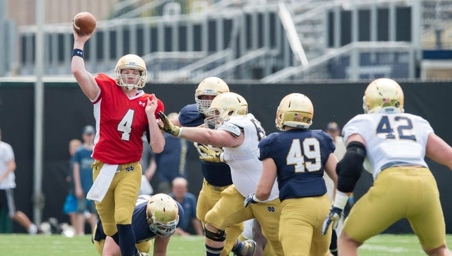 Notre Dame's defense works to prevent up-tempo offenses from having their way against them this season.