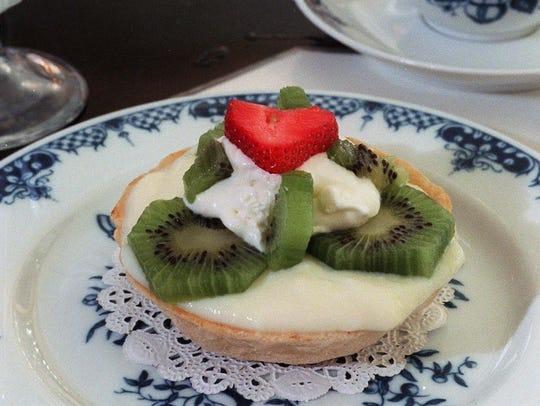 Kiwi Tarts from Watts Tea Room