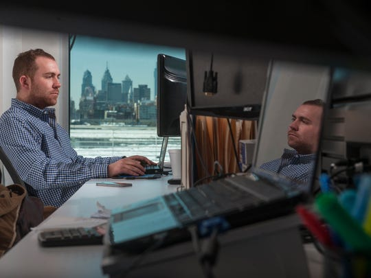 Matt Haran of Collingswood is a senior consultant at Webimax, a website services company that recently moved its offices to the Camden Waterfront from Mount Laurel.