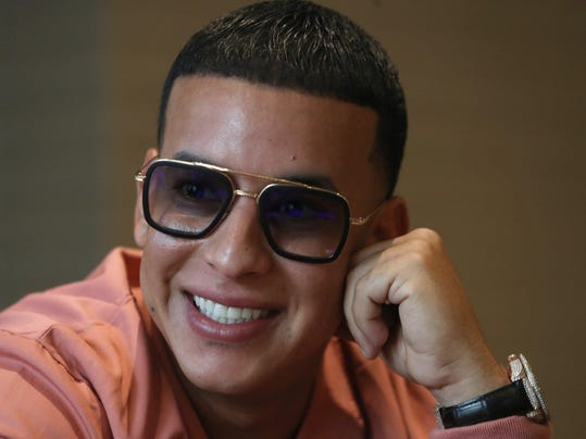 Daddy Yankee during interview in Madrid