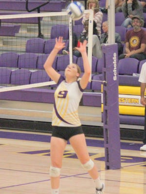 Western's Melanie Hughes tallied 21 assists during the game against Highlands on Tuesday night in Las Vegas.