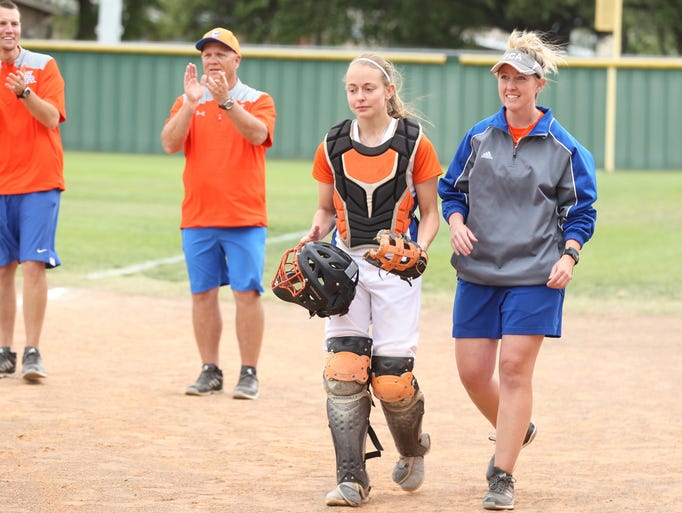 San Angelo Central High School senior catcher Mick