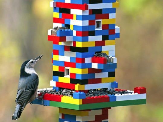 This impressive Lego bird feeder won a creative feeder