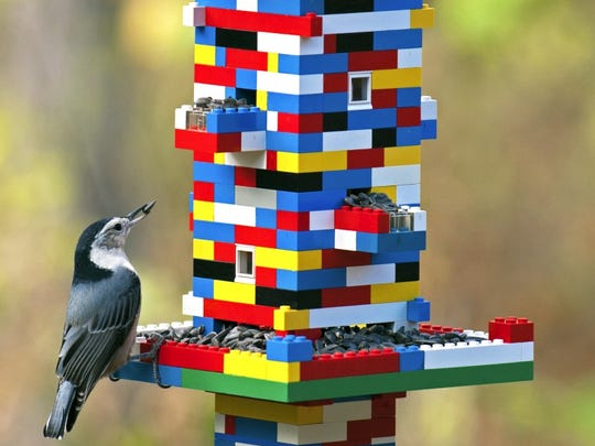 This impressive Lego bird feeder won a creative feeder