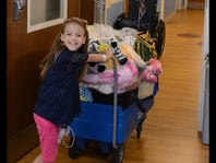 Girl going home after kidney transplant