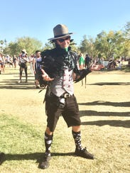 A concert goer at the Coachella Valley Music and Arts