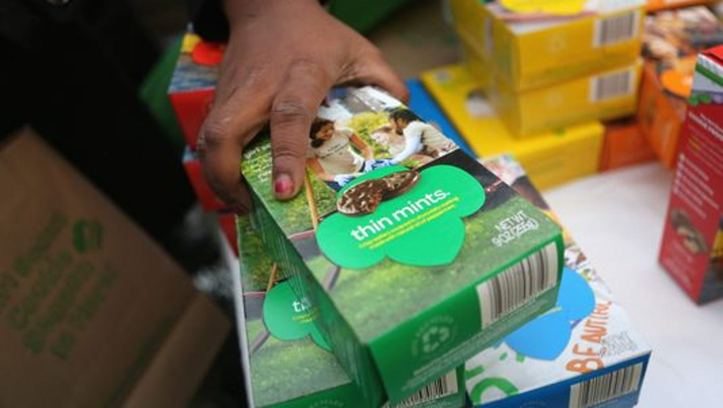 thin mints samoas girl scout cookie sales go digital
