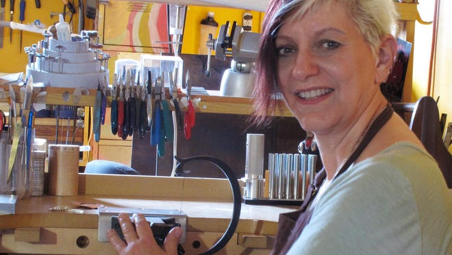 Portland jeweler Leslie Zemenek is one of the emerging artists who will be featured at the 2015 Salem Art Fair and Festival in July.
